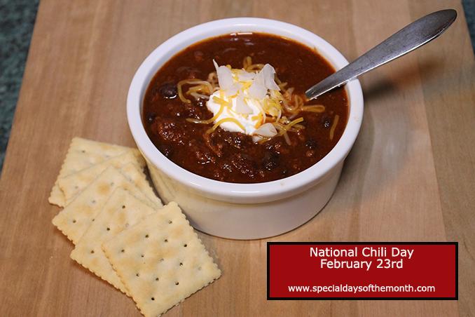 """chili on national chili day - feb 23"""