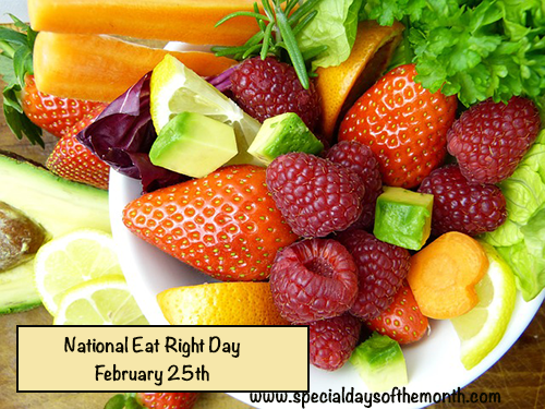 """national eat right day"""