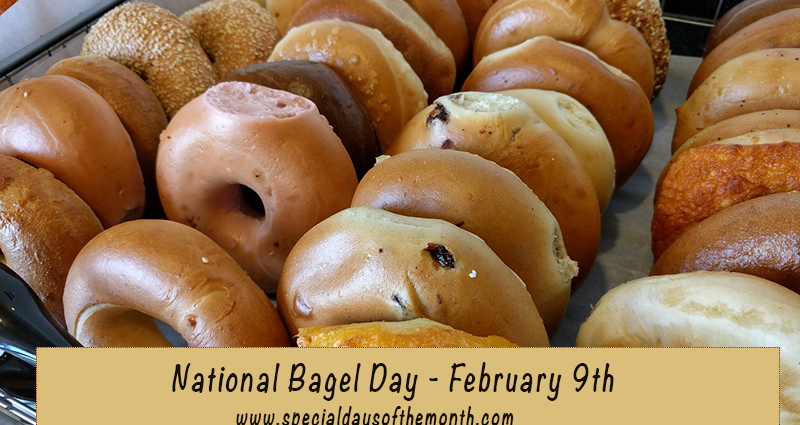 'national bagel day - feb 9th'