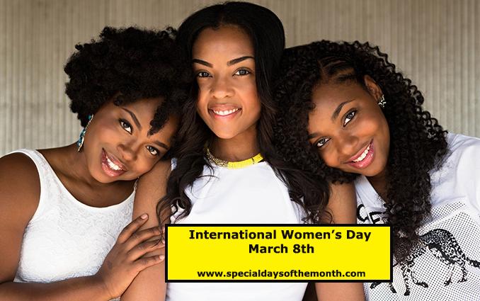 """international women's day - march 8th"""