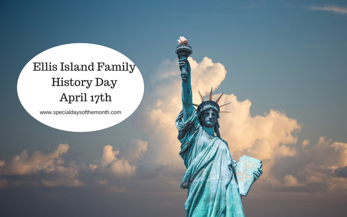 """ellis island family history day - april 17"""