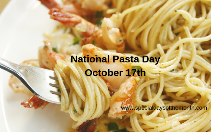 """""""pasta day - october 17th"""""""
