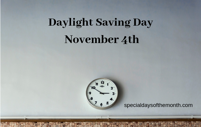"""daylight saving day"""