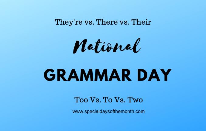 """""""grammar day - march 8th"""""""