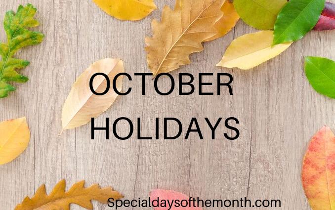 """""""october special holidays"""""""